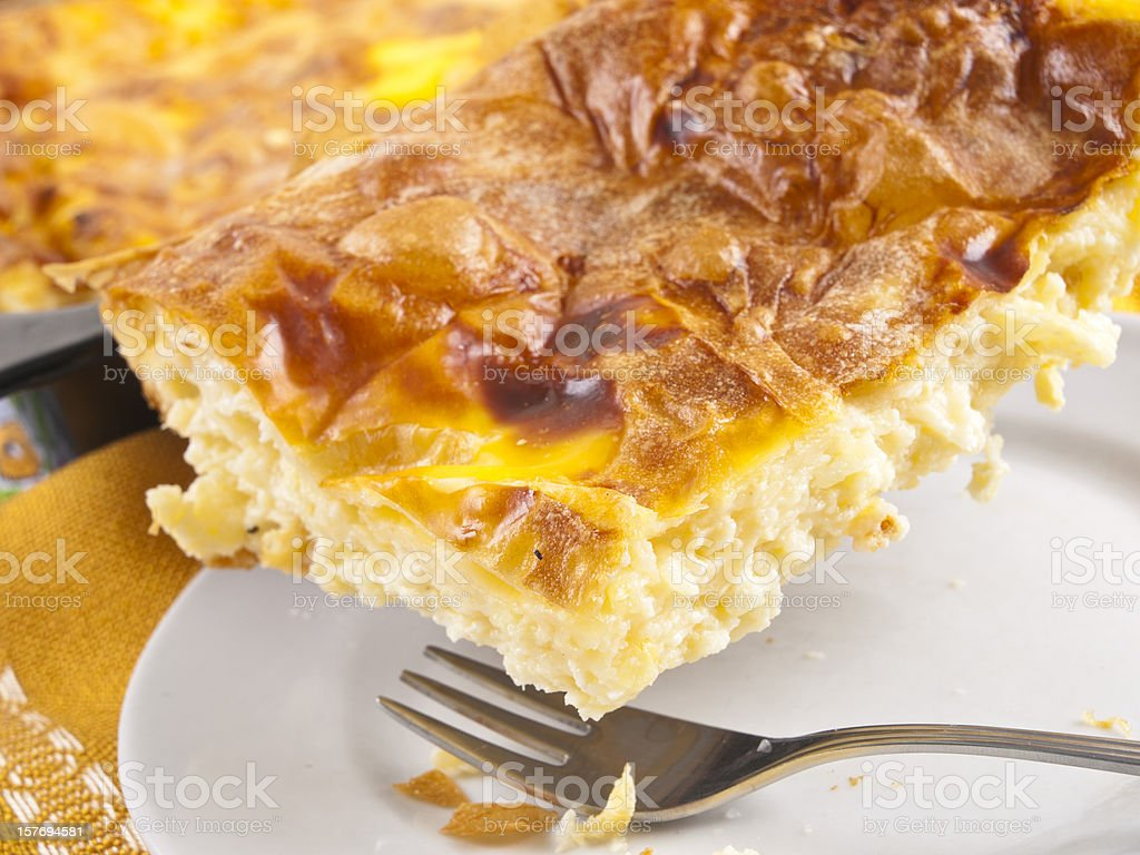 Cheese pie stock photo