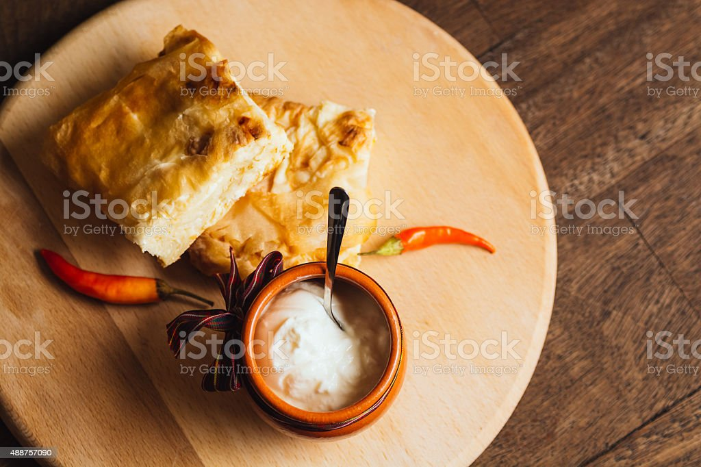 Cheese pie royalty-free stock photo
