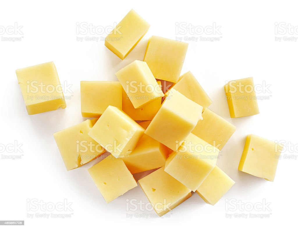 cheese pieces stock photo