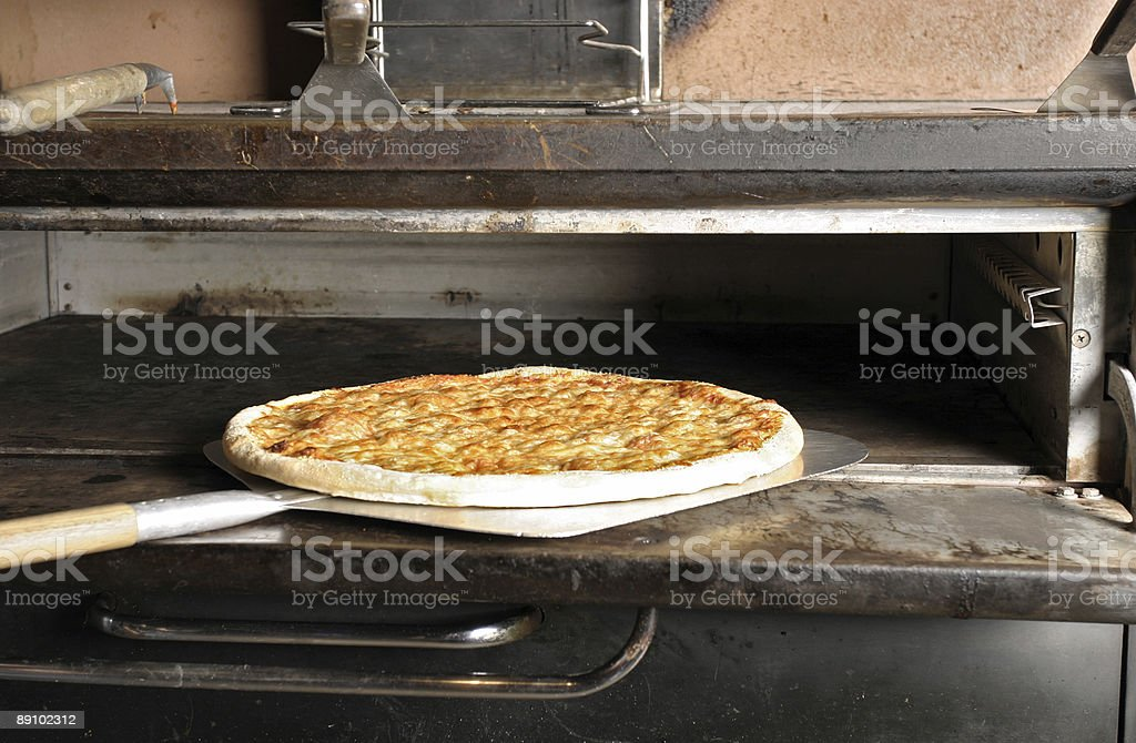 Cheese Pizza from the Oven stock photo
