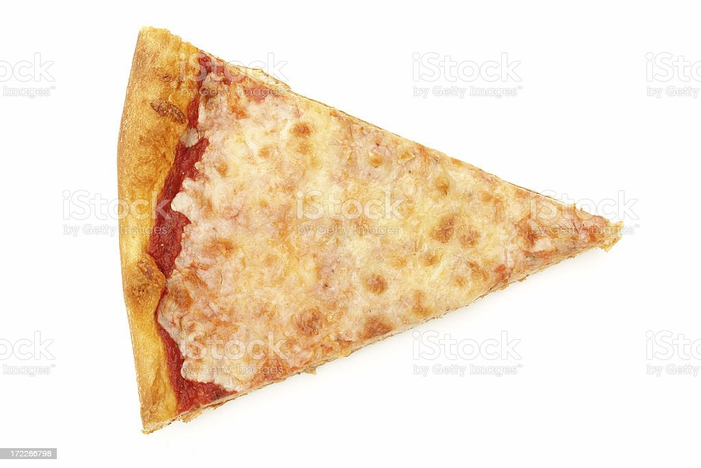 Cheese pizza slice isolated on white royalty-free stock photo