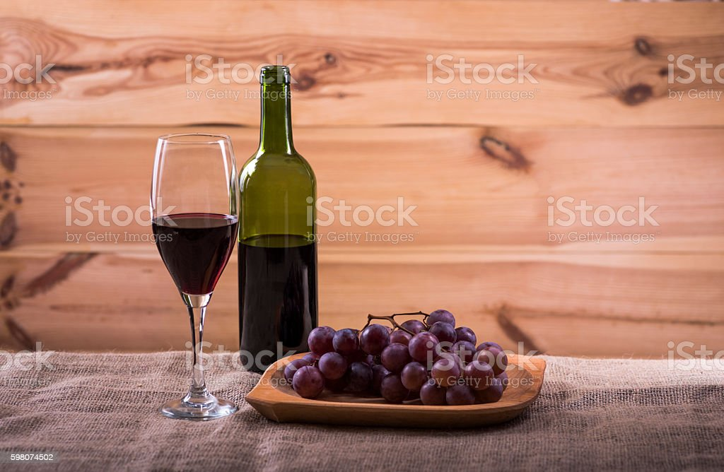 cheese platter and wine - a light snack stock photo