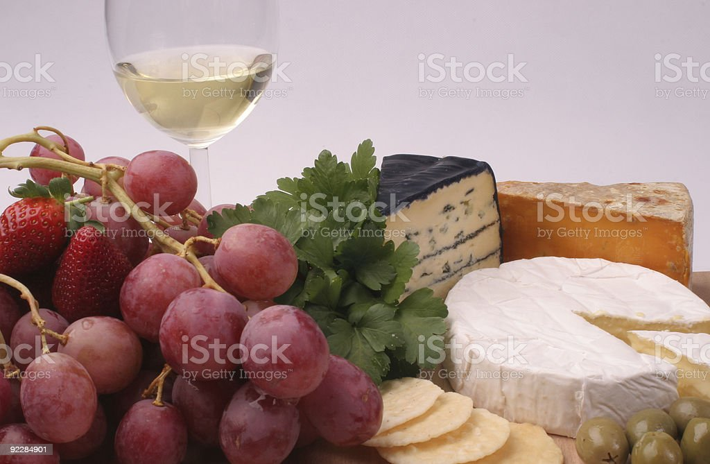 Cheese Platter for one stock photo