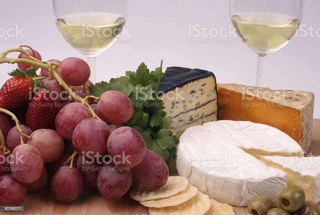 Cheese Platter for two stock photo
