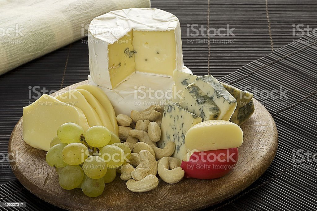 Cheese platter royalty-free stock photo