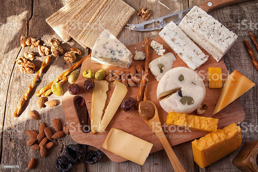 Cheese Platter stock photo