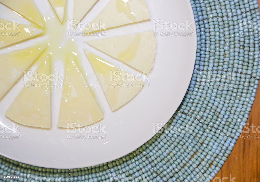 Cheese platter, top view stock photo