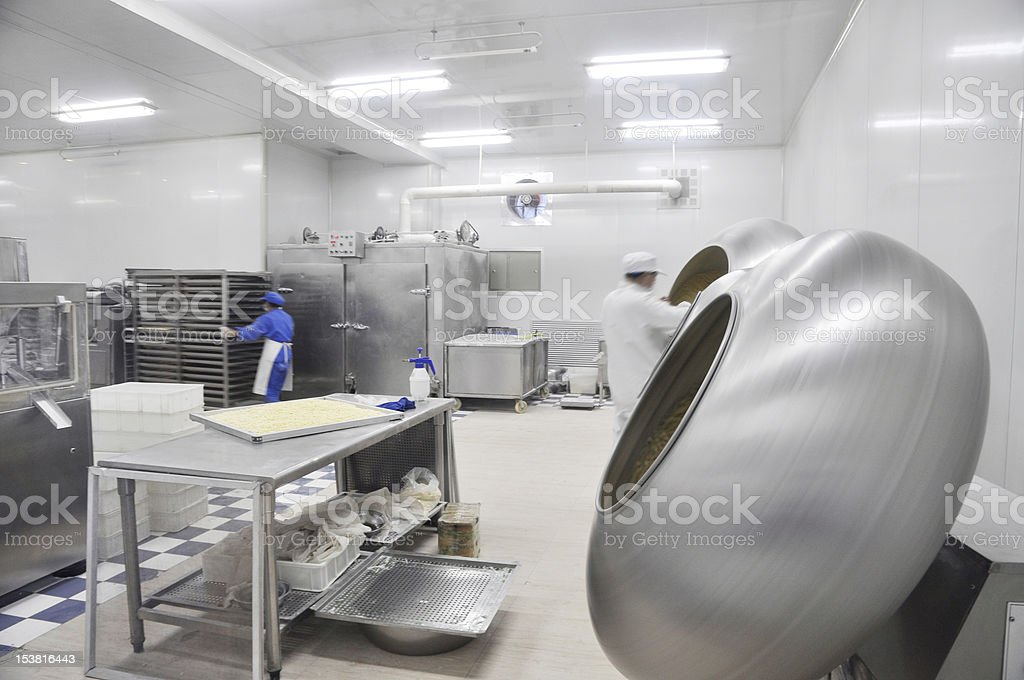 Cheese processing plant royalty-free stock photo