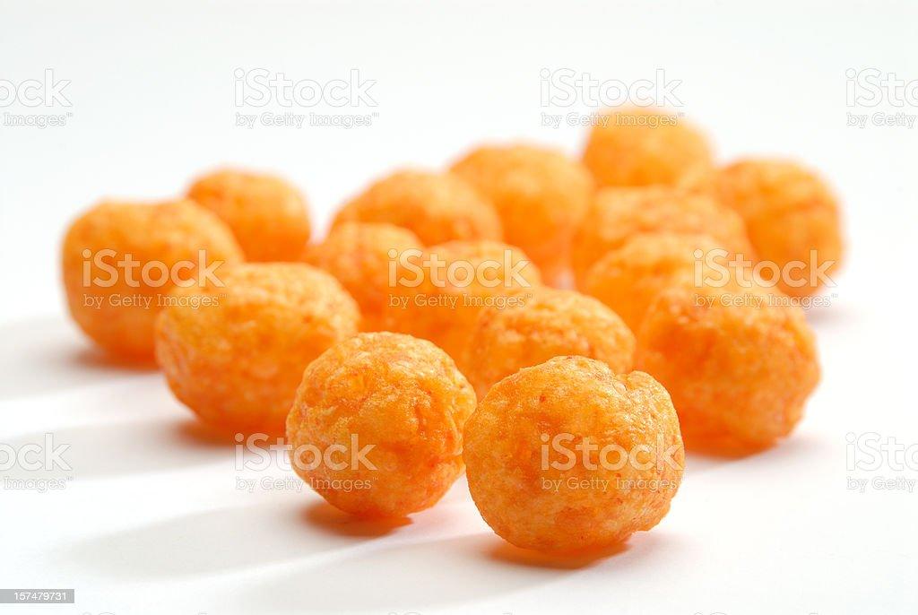 Cheese puff  balls. stock photo