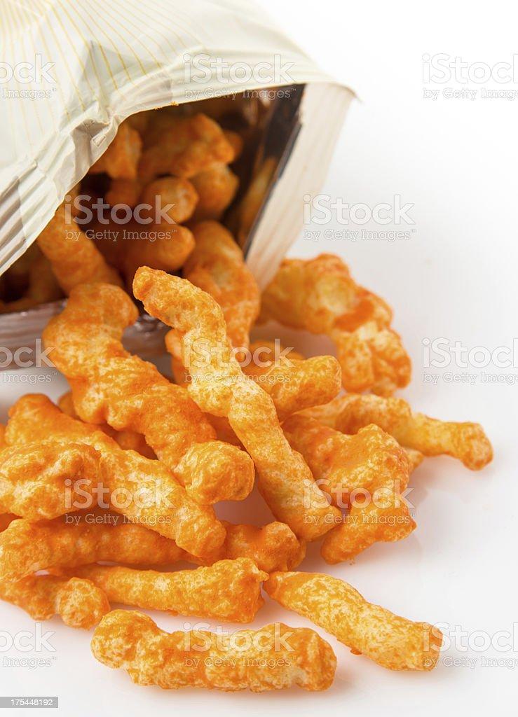 Cheese Puff Snacks stock photo