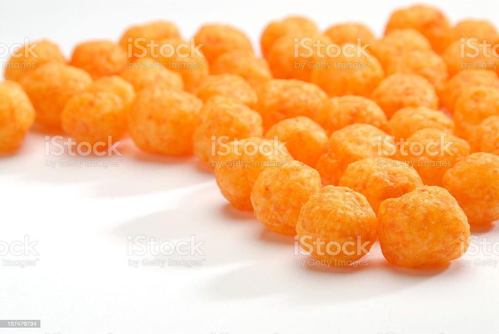 Cheese puffs balls. stock photo