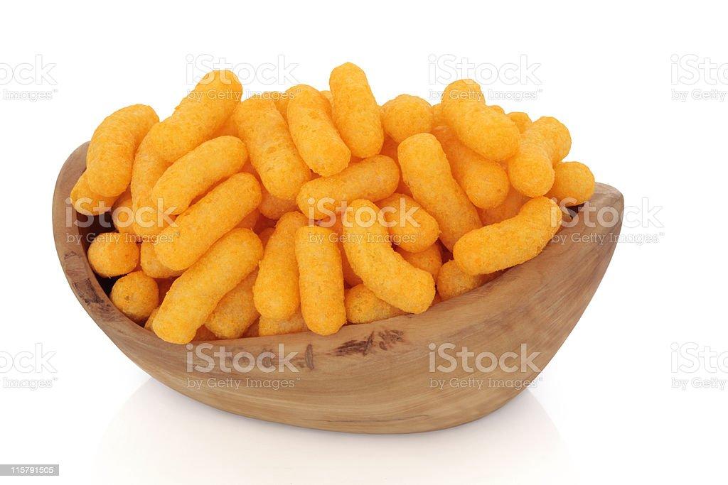 Cheese Puffs stock photo