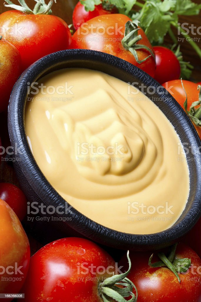 Cheese Queso Dip royalty-free stock photo