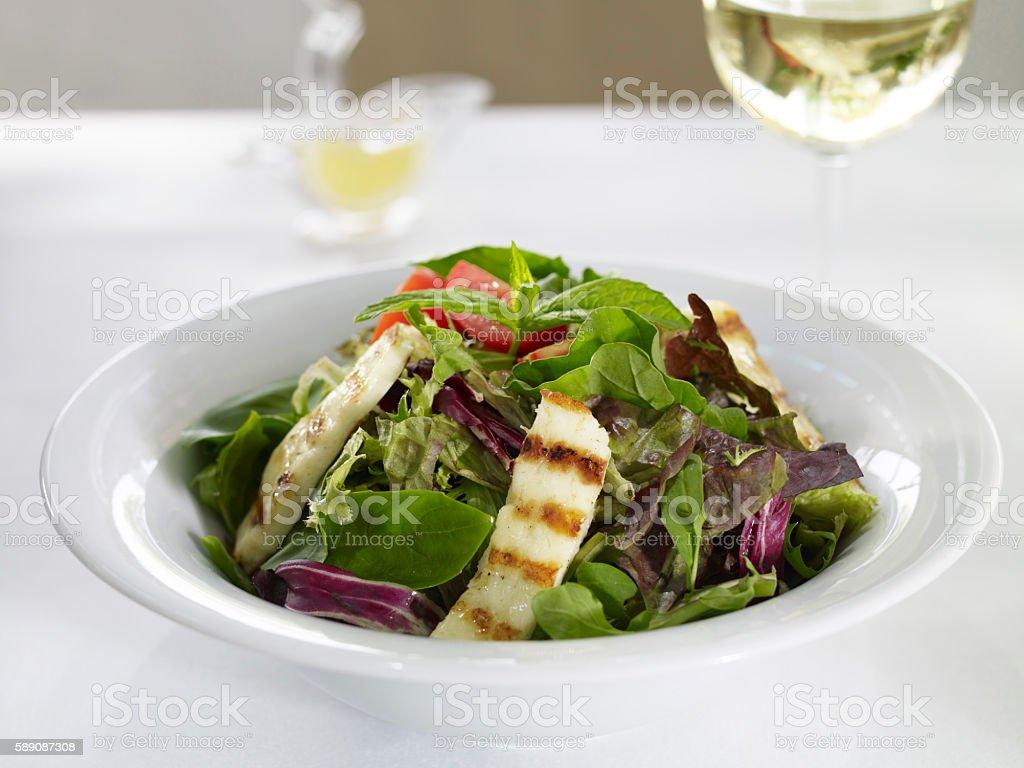 cheese salad stock photo