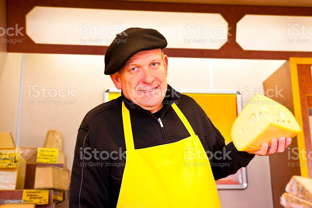 Cheese Salesman royalty-free stock photo