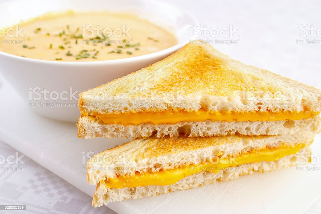 Cheese sandwiches royalty-free stock photo