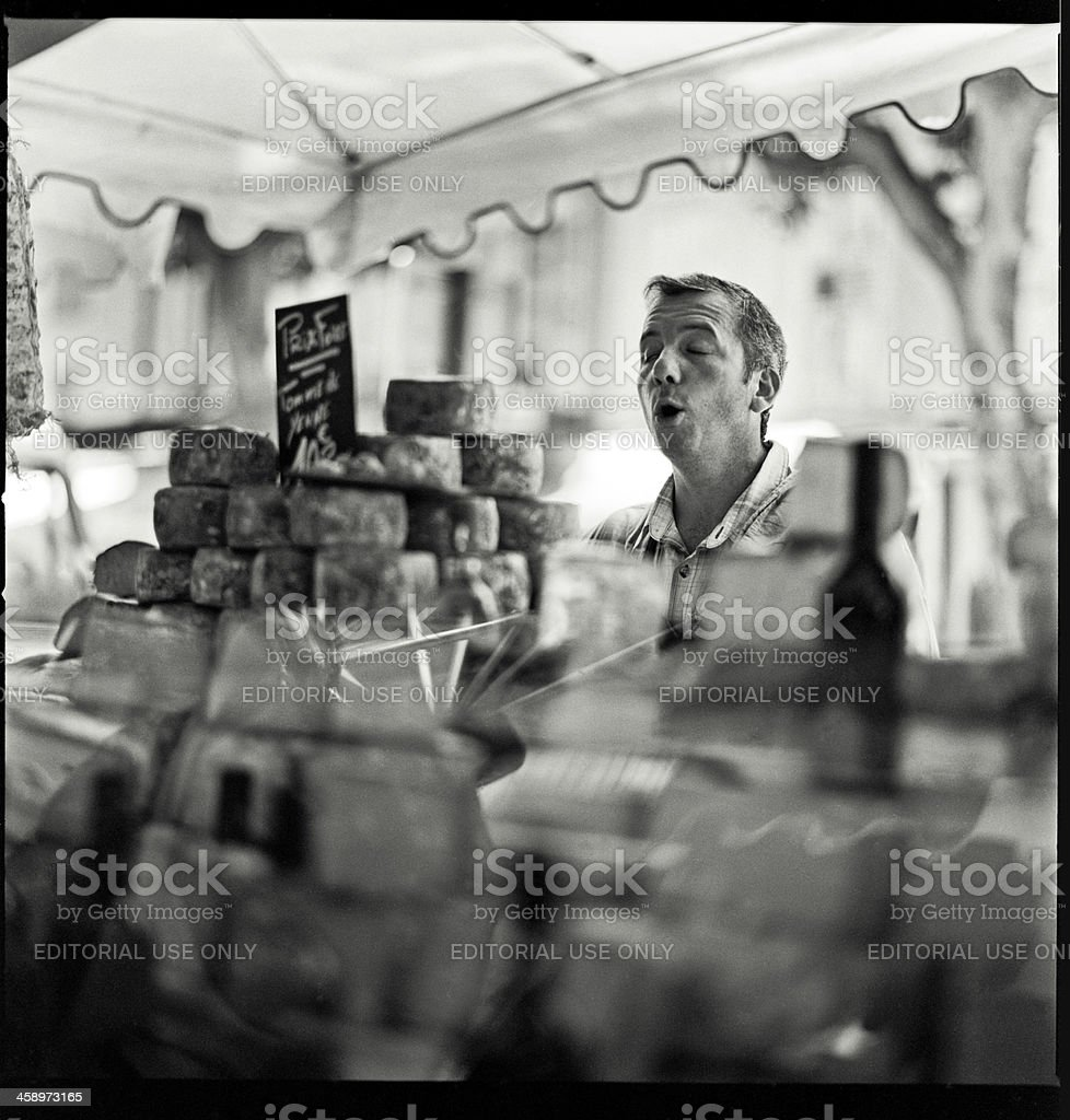 Cheese seller royalty-free stock photo