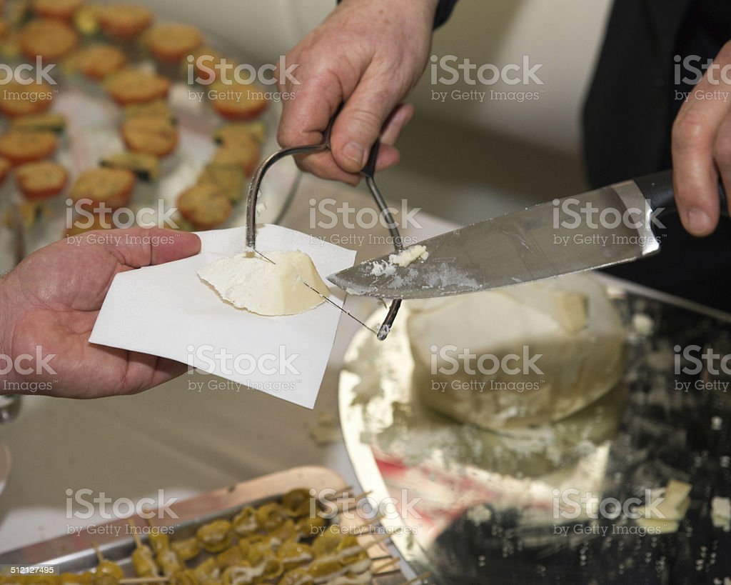 cheese served with Italian style royalty-free stock photo