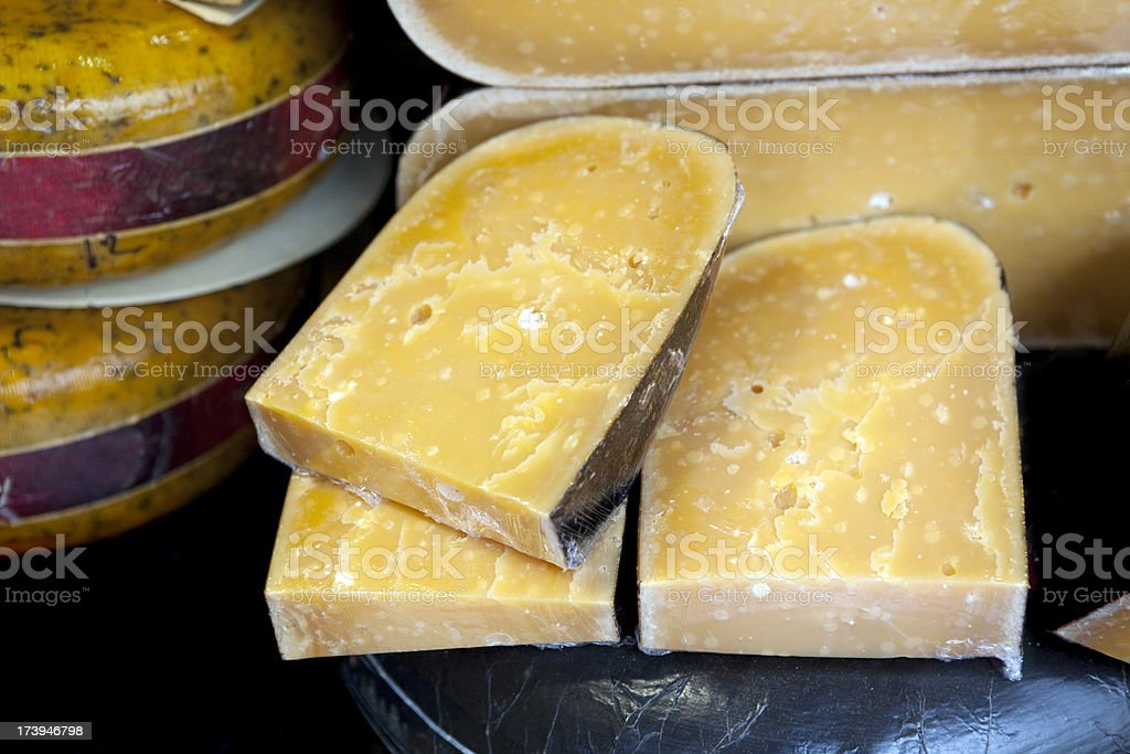 Cheese Slices for Sale in Holland royalty-free stock photo