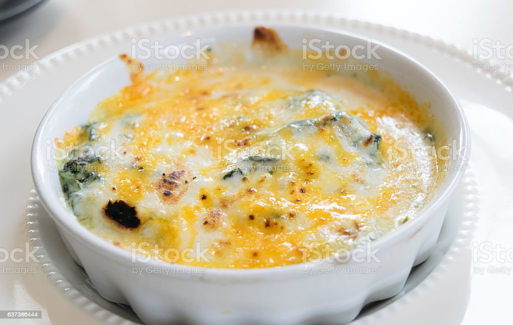 Cheese spinach stock photo