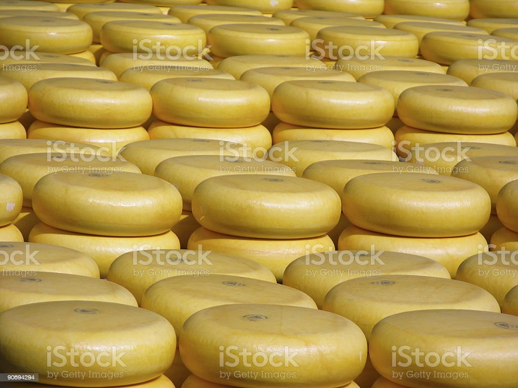 Cheese stacked up stock photo