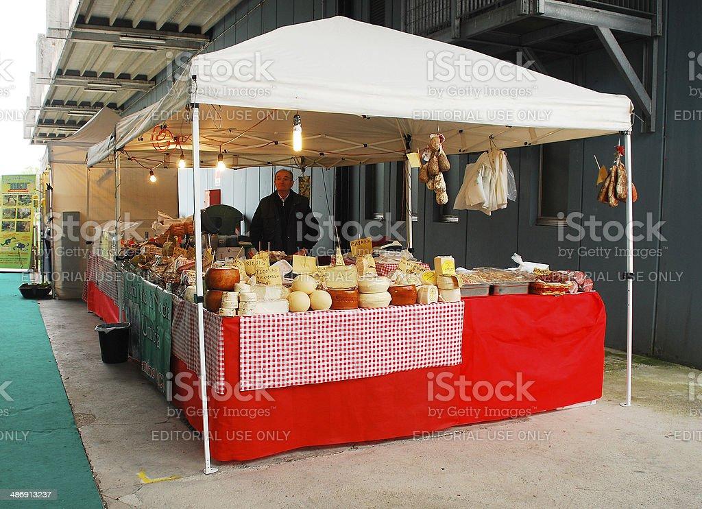 Cheese Stall stock photo