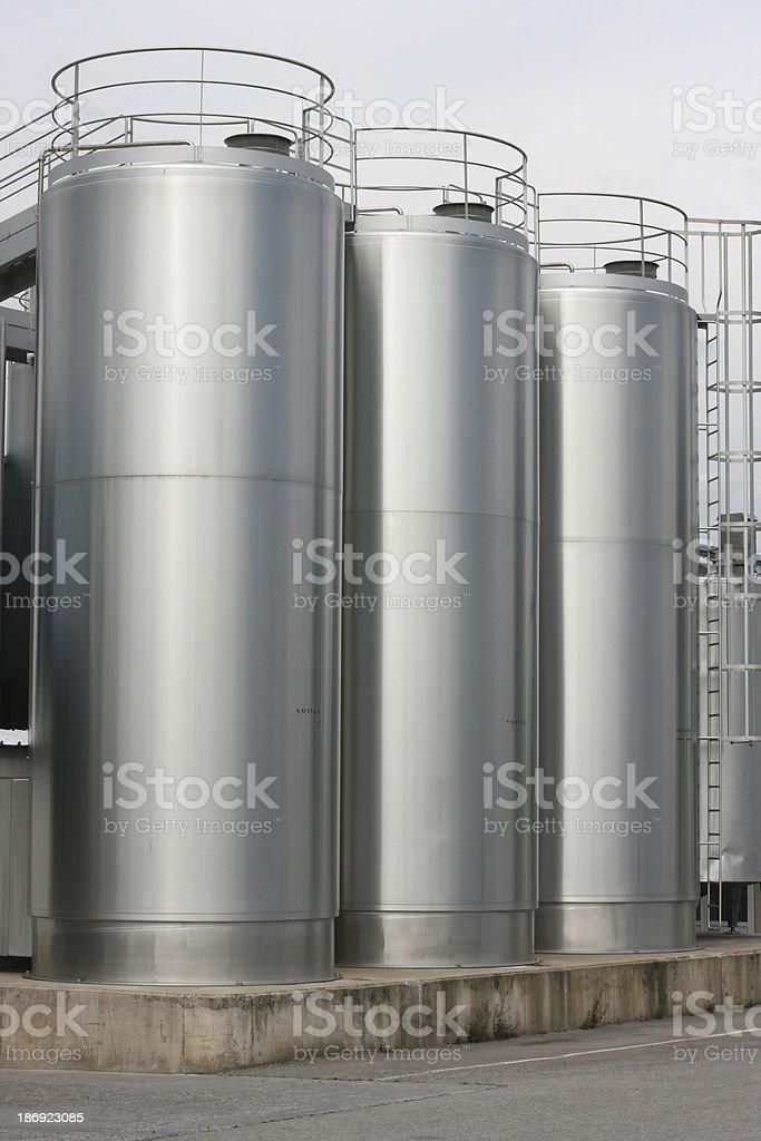 Cheese steel vat royalty-free stock photo