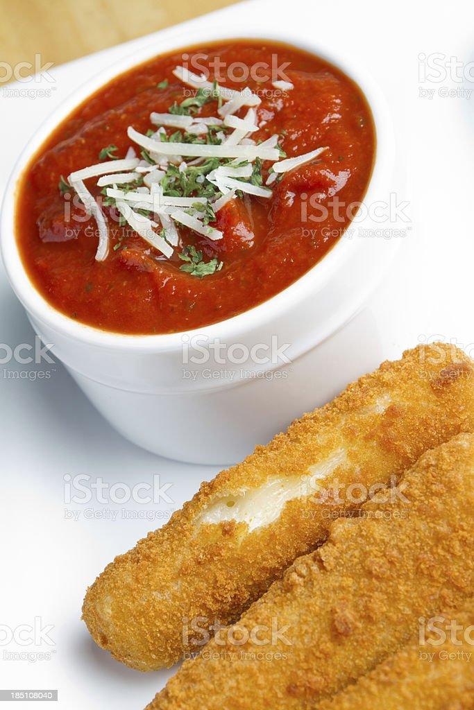 Cheese Sticks and Marinara Sauce stock photo