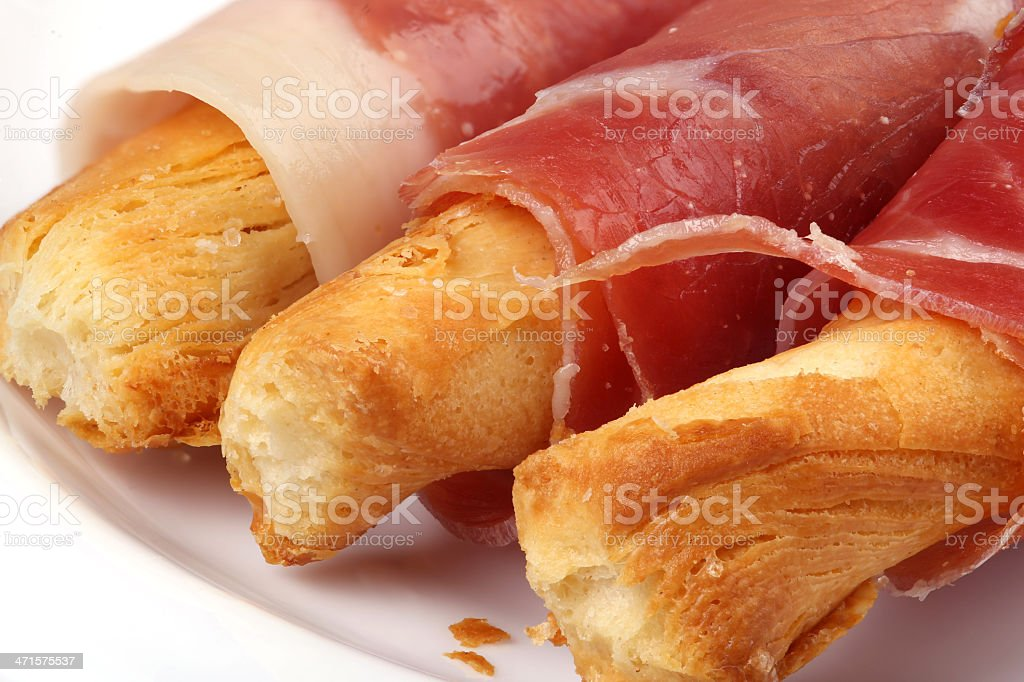 Cheese sticks with bacon royalty-free stock photo