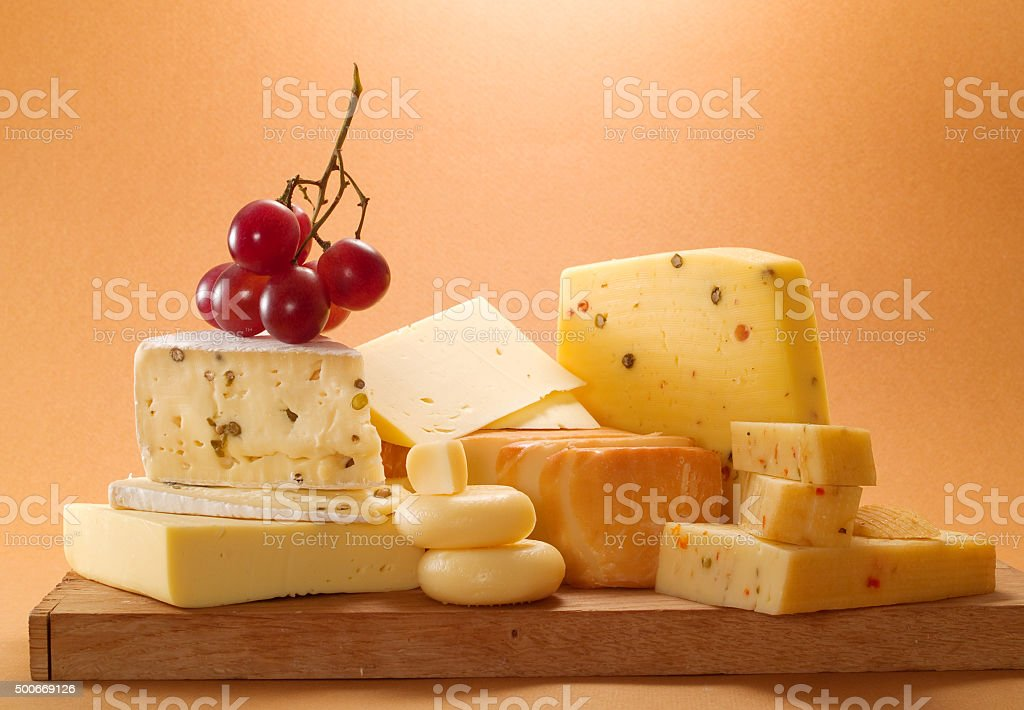 Cheese still life stock photo