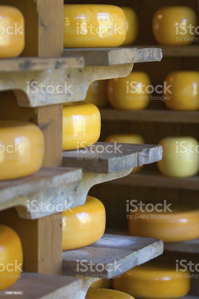 Cheese storage royalty-free stock photo