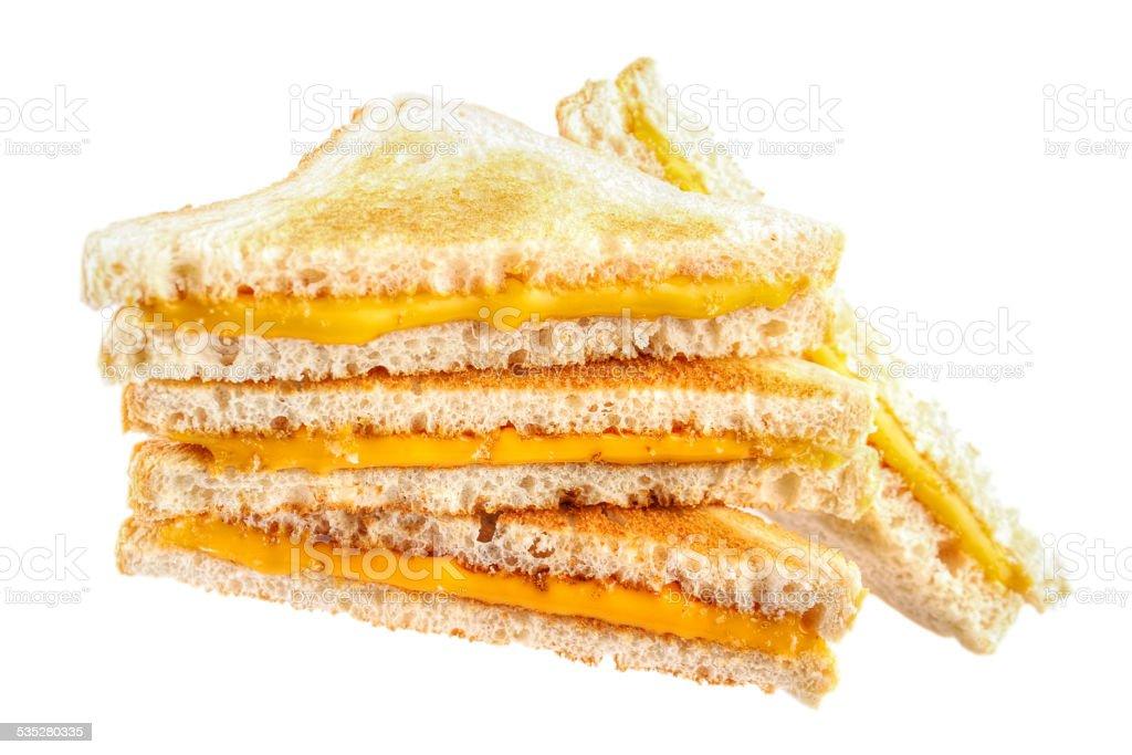 Cheese toast sandwiches stock photo