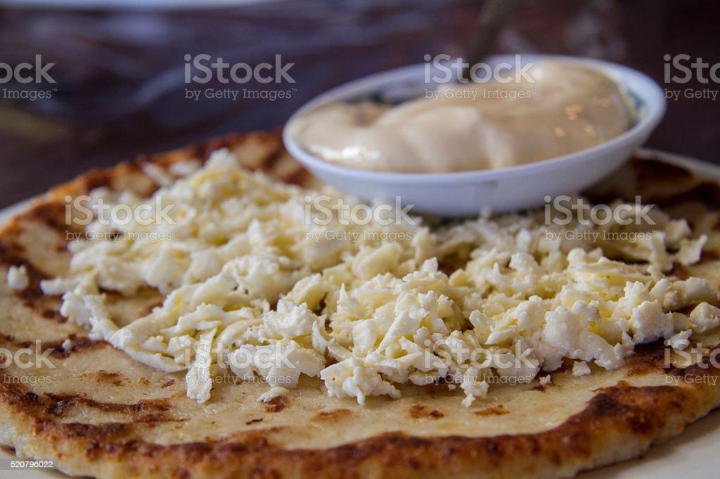 Cheese Tortilla, Costa Rican Food stock photo