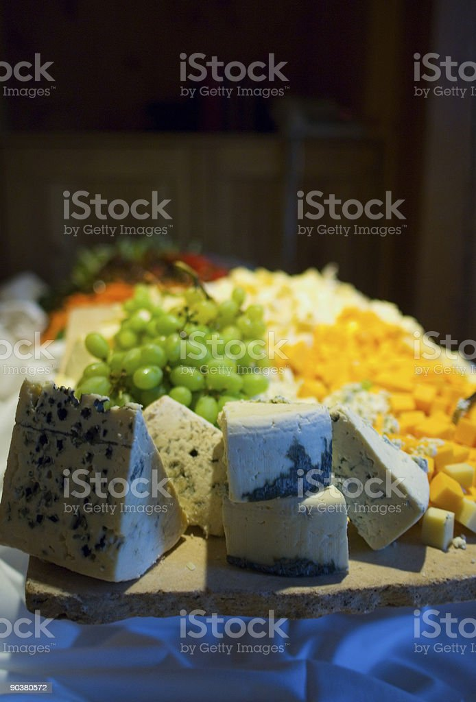 Cheese tray fine dining royalty-free stock photo