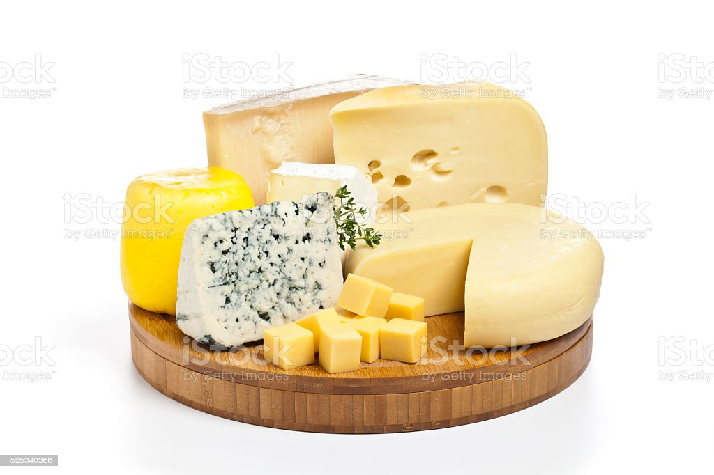 Cheese tray stock photo