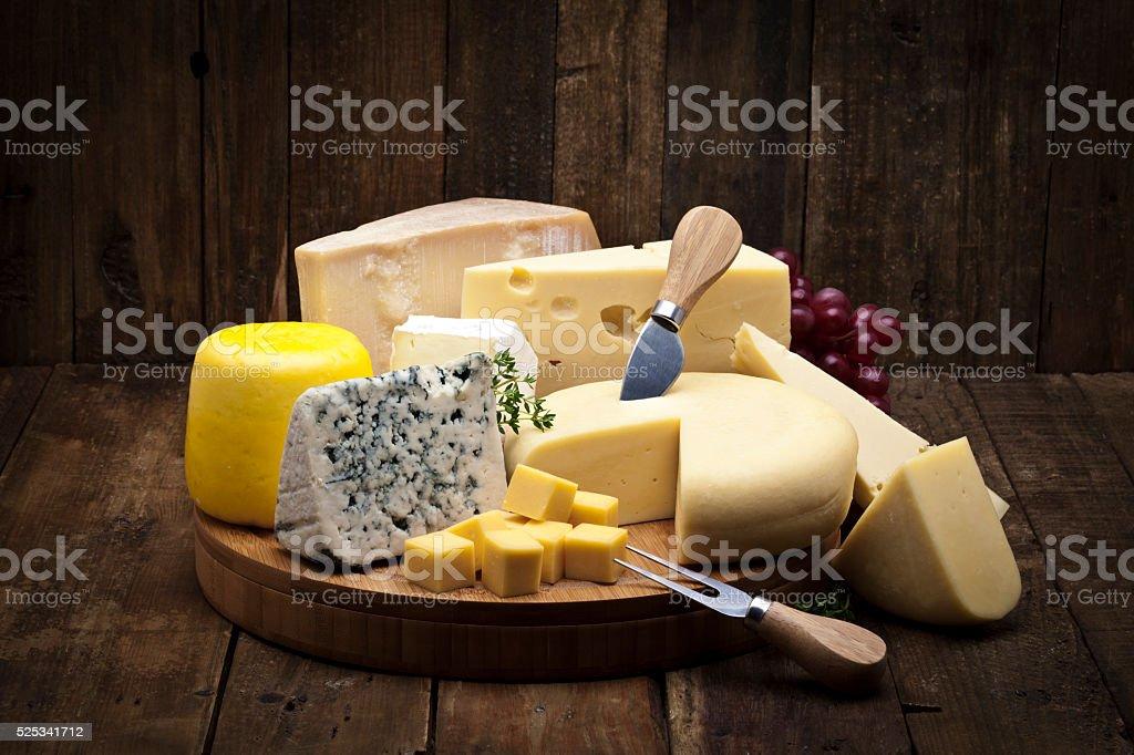 Cheese tray stock photo