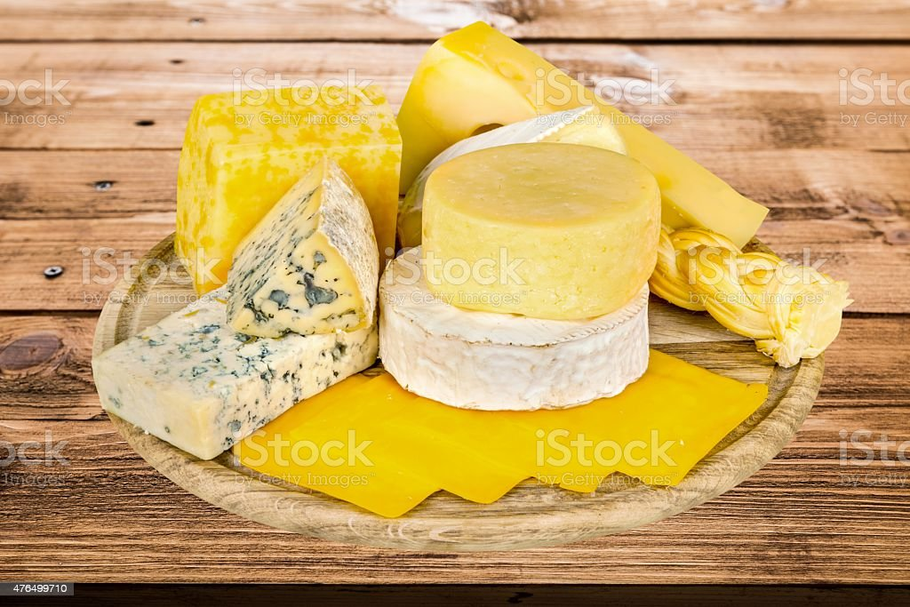 Cheese, Tray, Plate stock photo