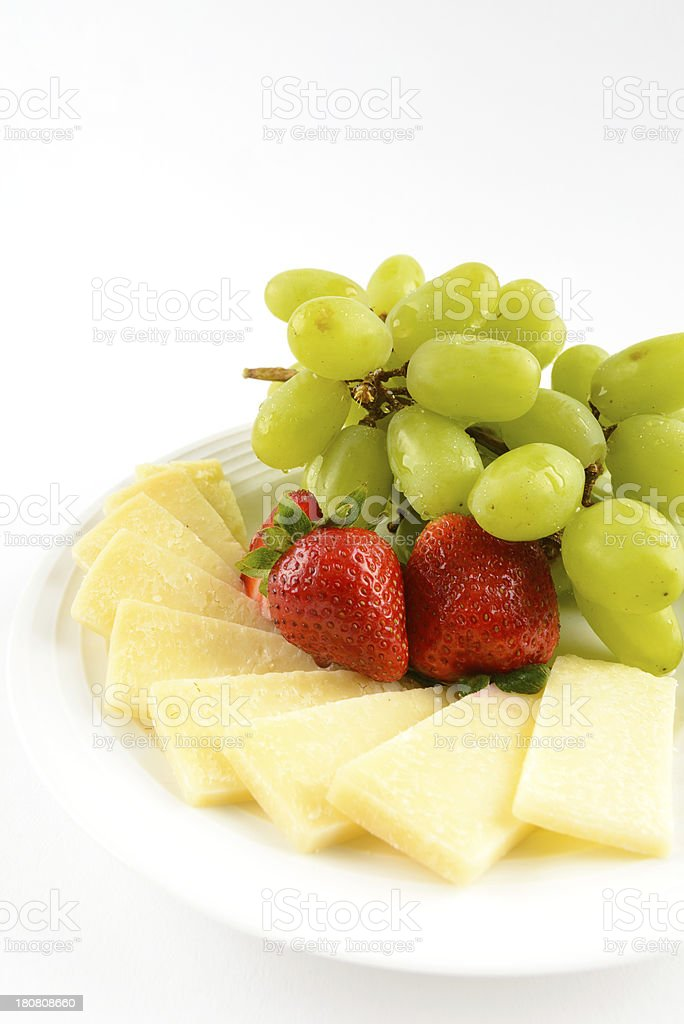 Cheese Tray with Fruit royalty-free stock photo