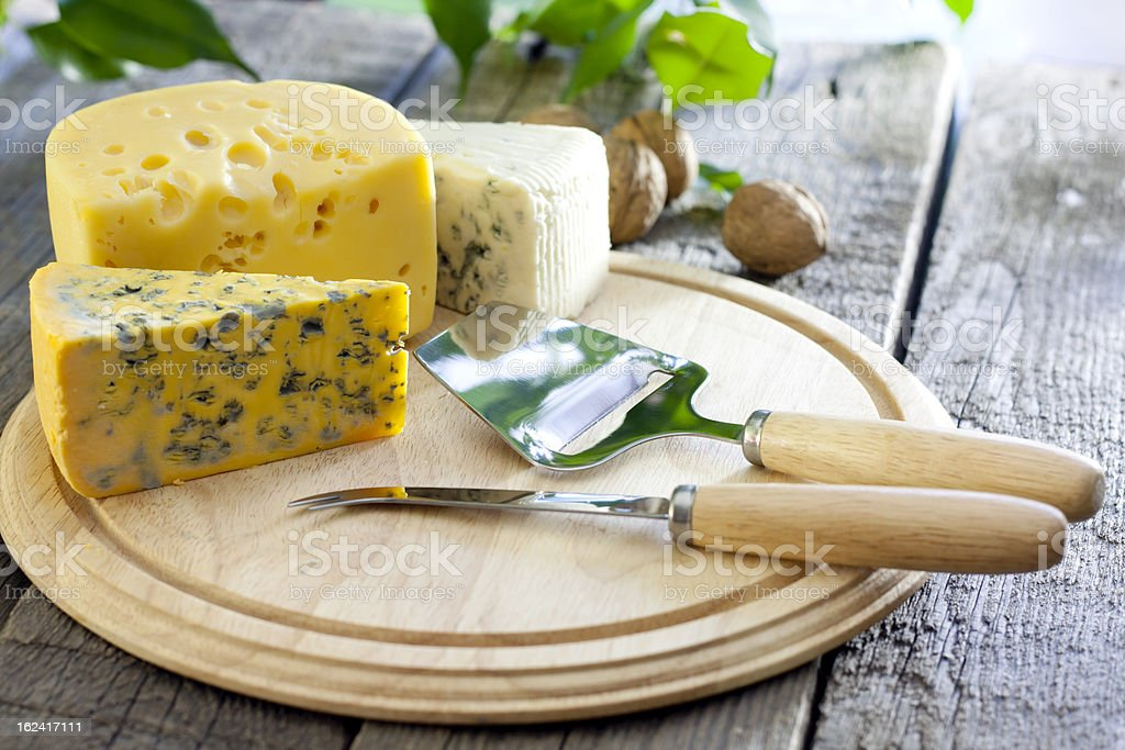 Cheese various assortment royalty-free stock photo