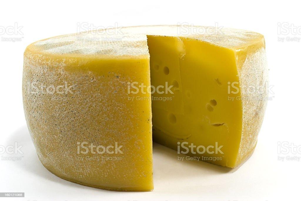 Cheese wheel stock photo
