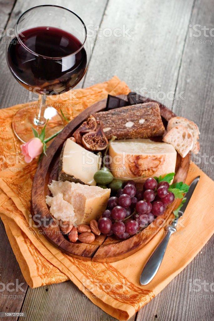 Cheese & Wine stock photo