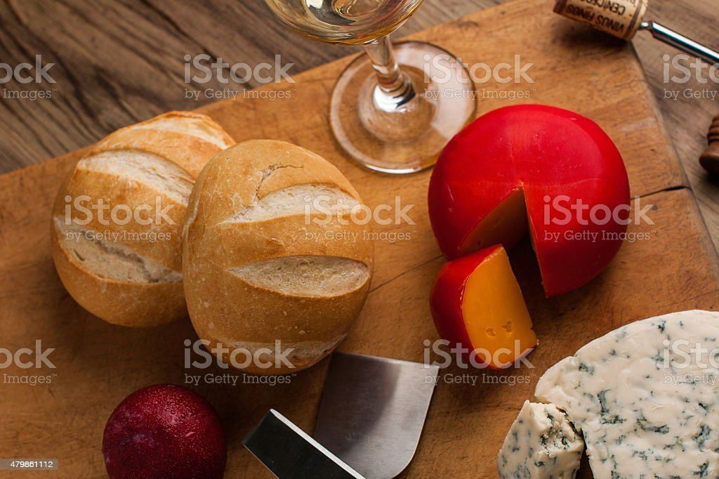 Cheese & Wine stock photo