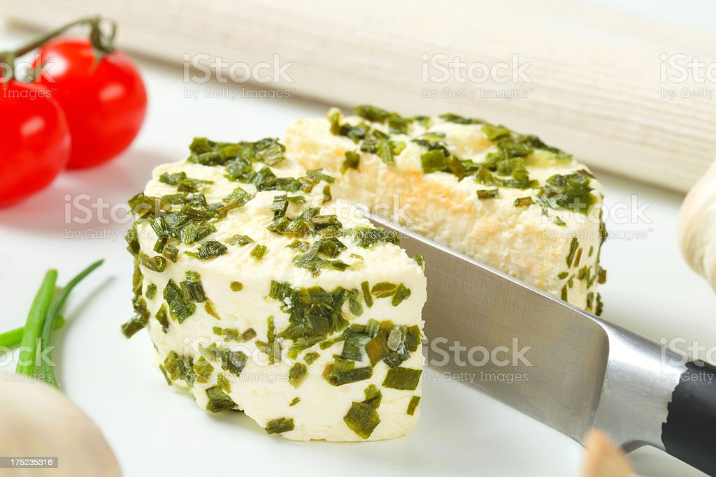 cheese with herbs royalty-free stock photo