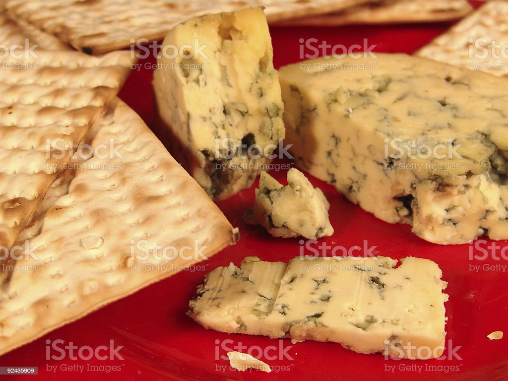 Cheese with Matzos royalty-free stock photo