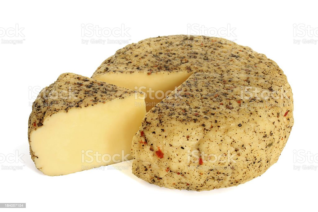 Cheese with spices royalty-free stock photo