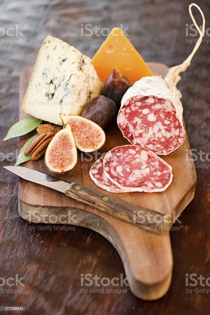 Cheeseboard stock photo