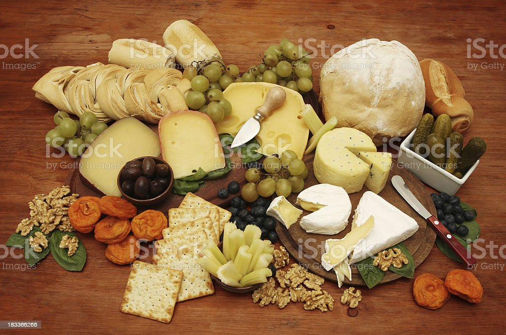 Cheeseboard Platter royalty-free stock photo