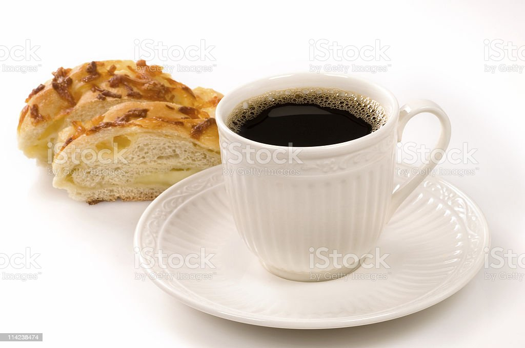 Cheesebread and coffee royalty-free stock photo