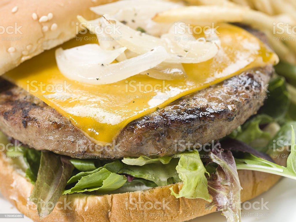 Cheeseburger close up royalty-free stock photo