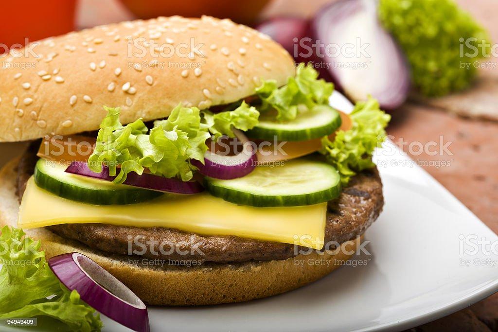 cheeseburger close-up royalty-free stock photo